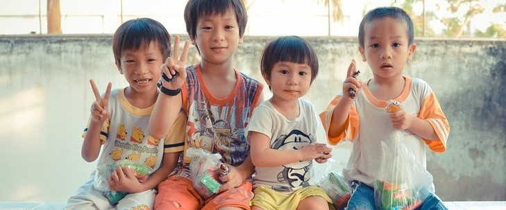 Orphans from Vinh Long Orphanage