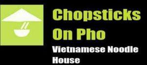 chopsticks on pho