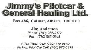 Jimmy's Pilotcar & General Hauling Ltd.