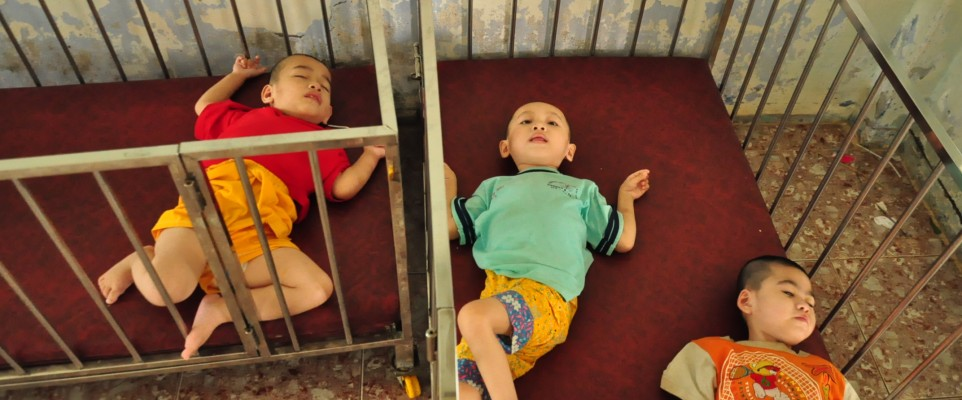 Disabled children in Ca Mau
