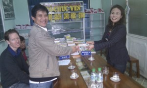 giving cash donation from Carin